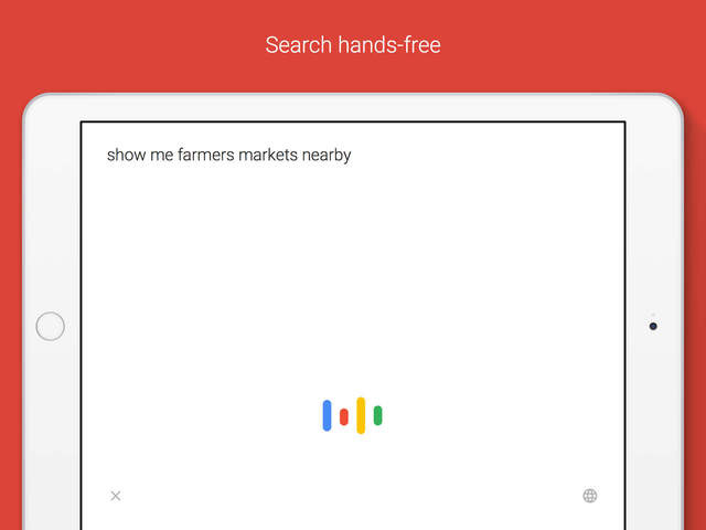به روزرسانی برنامه گوگل در آی پد