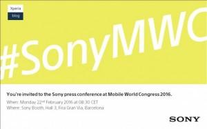 نشست خبری شرکت سونی در نمایشگاه MWC 2016