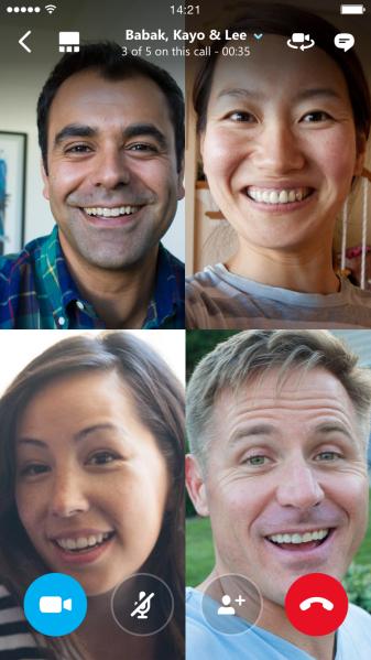 برقراری تماس تصویری گروهی با برنامه اسکایپ
