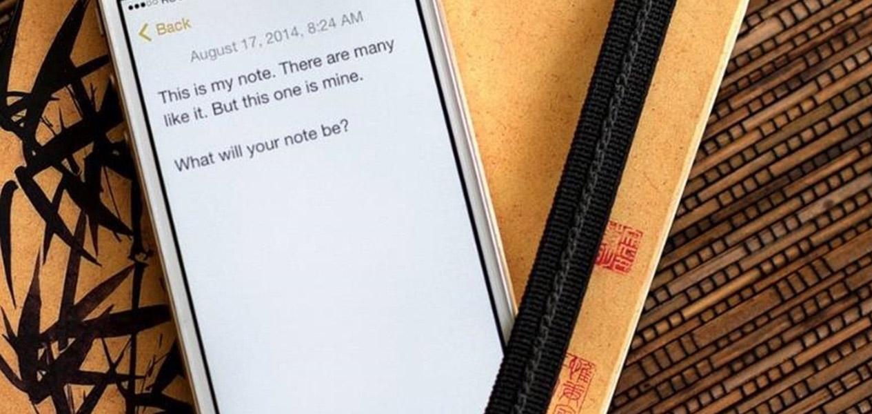 مدیریت یادداشت های روزانه با آیفون
