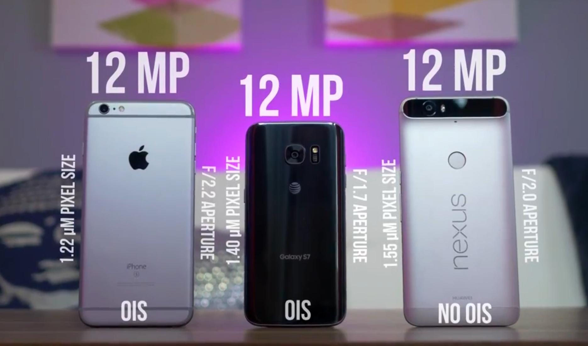 ویدیو مقایسه دوربین Galaxy S7 با iPhone 6s Plus و Nexus 6P