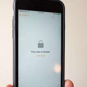رمزگذاری بر روی برنامه نوت در iOS 9.3