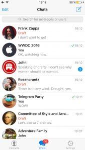 آخرین نسخه به روزرسانی تلگرام