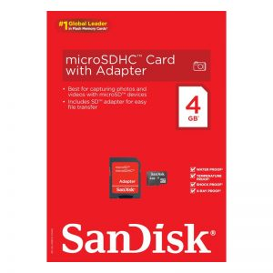 SanDisk MicroSDHC Class 4 Flash Memory Card 4GB