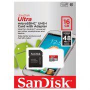 SanDisk Ultra UHS-I U1 Class 10 48MBps microSDHC 16GB