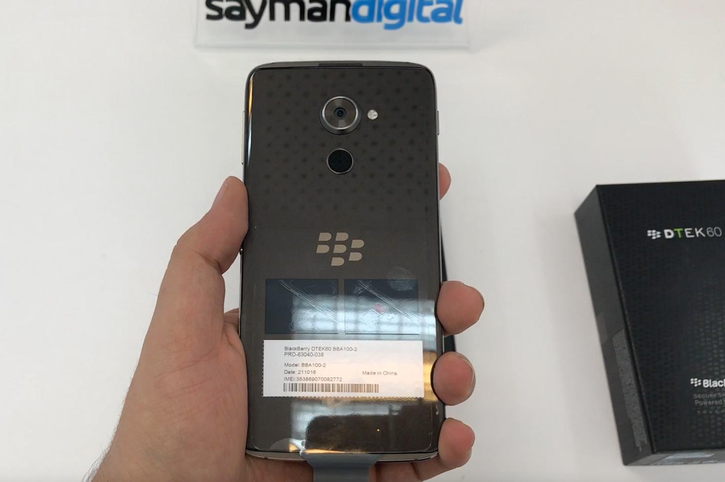 َUnboxing BlackBerry DTEK60