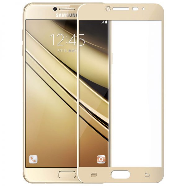 Samsung Galaxy C7 Tempered Glass Screen Protector Full
