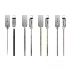 Hoco U12 Silica Gel Storage Lightning Charging Cable