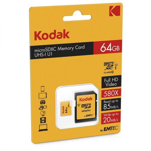 Kodak Micro SDXC U1 Memory Card 64GB