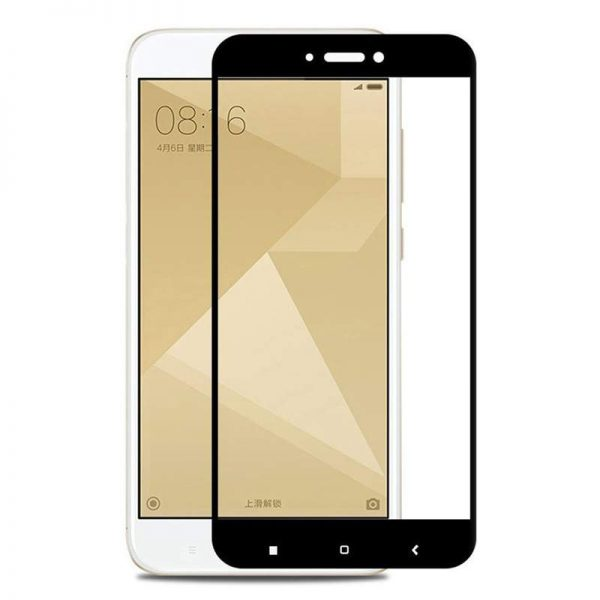 Redmi 4X Tempered Glass Screen Protector Full