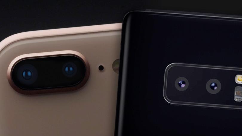 مقایسه ی دوربین گلکسی نوت 8 و آیفون 8 پلاس