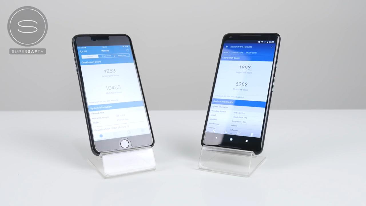 مقایسه ی عملکرد گوگل Pixel 2 XL و آیفون 8 پلاس