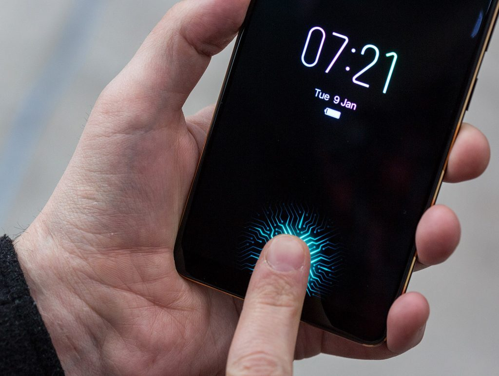 Vivo under glass fingerprint scanner