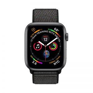 1Apple Watch 4 Space Gray Aluminum Case Black Sport Loop 44mm