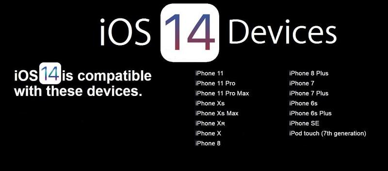 دستگاههای پشتیبانیکننده از ios14