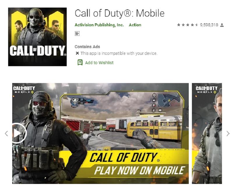 دانلود پرطرفدارترین بازی های اندروید : کال آف دیوتی موبایل