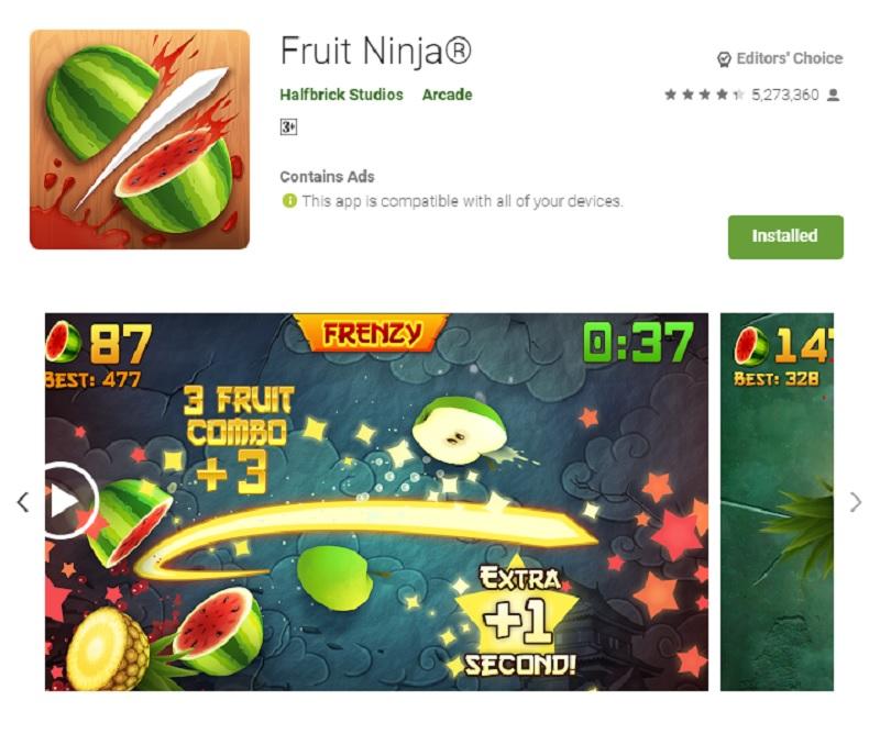 بازی نینجای میوهها