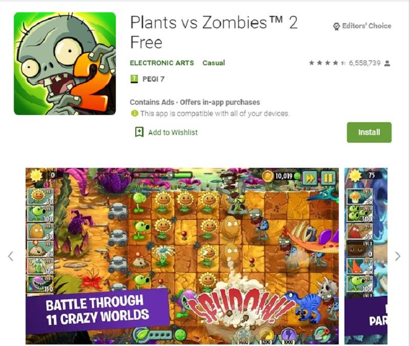 بازی گیاهان در مقابل زامبیها