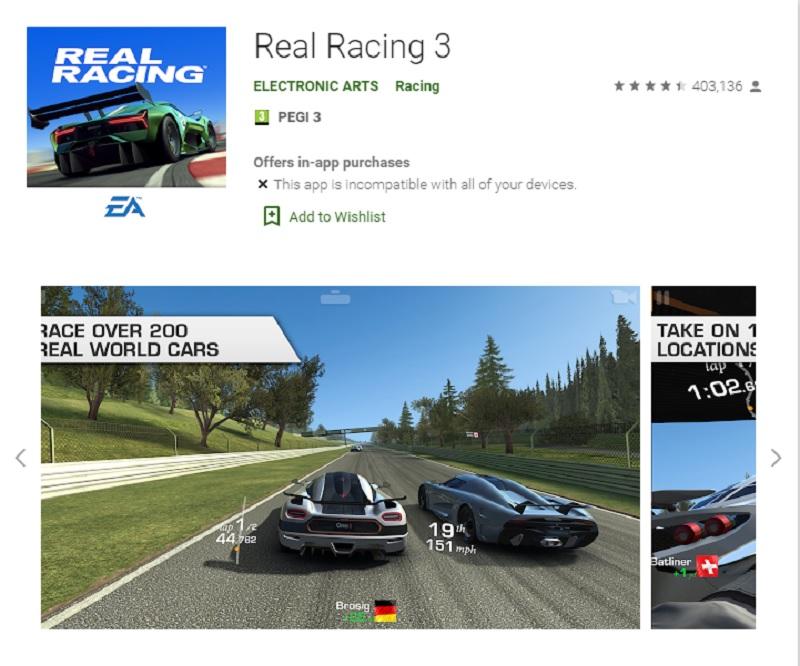 مسابقه ماشینی واقعی ۳ (Real Racing 3)