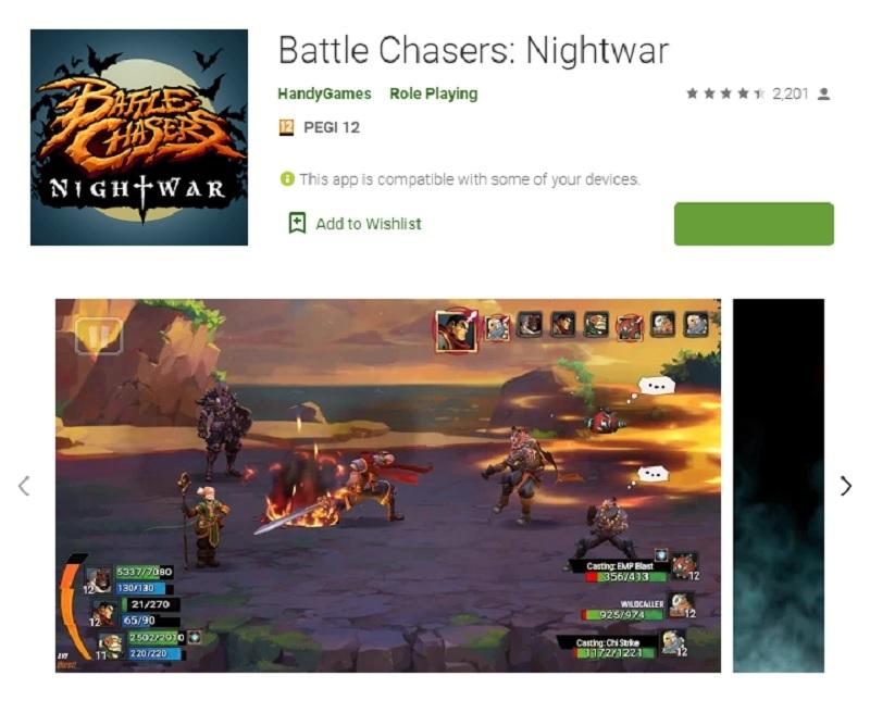 پیروزان نبرد: شبگرد(Battle Chasers: Nightwar)