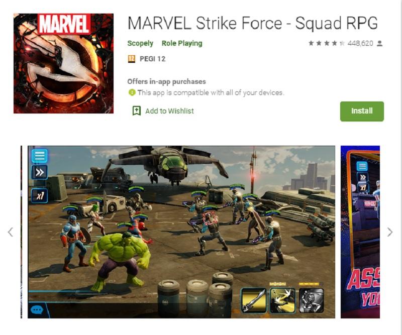 نیروی جنگی مارول(Marvel Strike Force)