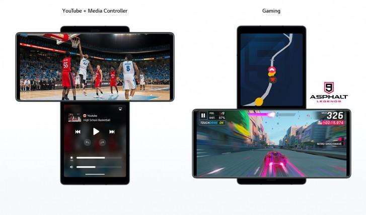 استفاده همزمان از دو صفحه نمایش گوشی جدید ال جی