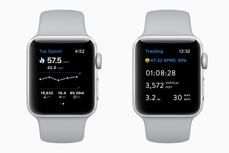پیگیری فعالیت اسکی و اسنوبرد به وسیله اپل واچ