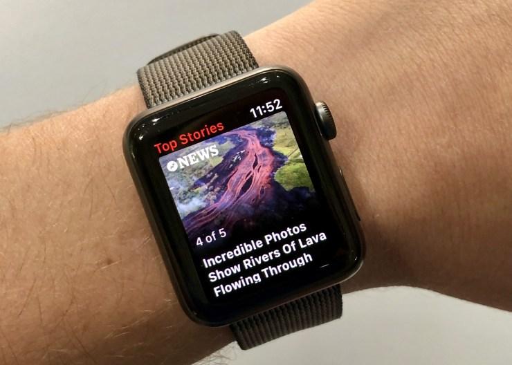 اطلاع از اخبار و رویدادها به وسیله اپلیکیشن موجود در اپل واچ