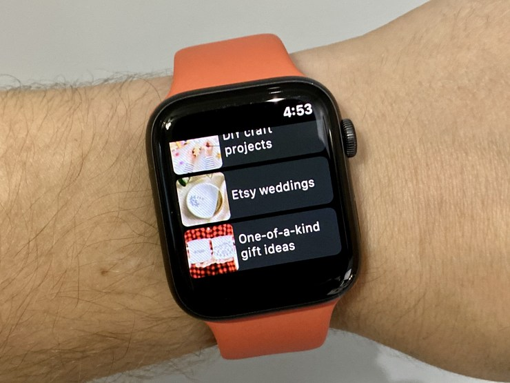خرید از طریق Esty به کمک اپل واچ