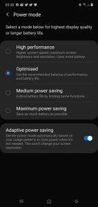 Adaptive power saving