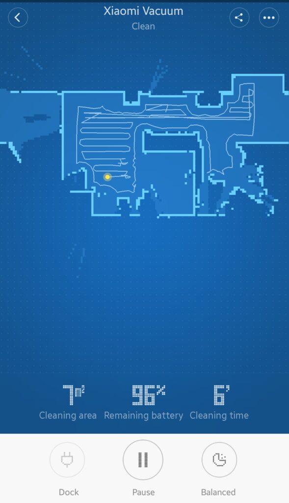 ایجاد نقشه از مناطق تمیز شده و نمایش دیگر اطلاعات