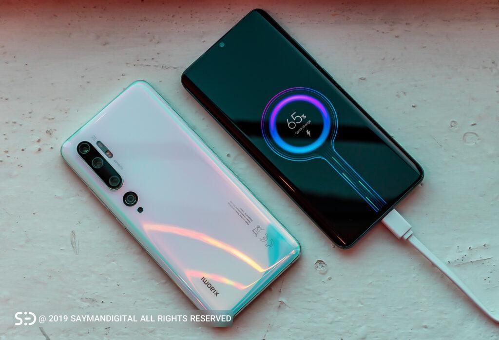 می ۱۰ پرو در مطلب بهترین گوشی های ۲۰۲۰ از نظر باتری