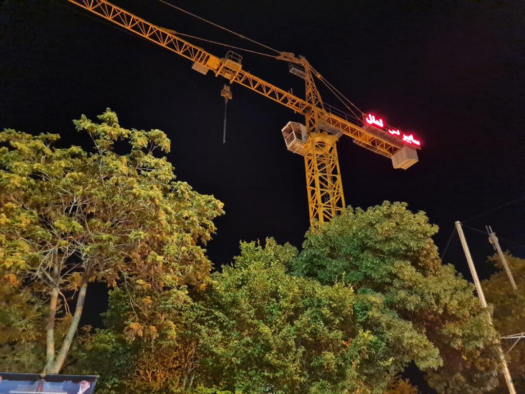 دوربین اصلی در شب بدون نایت مود
