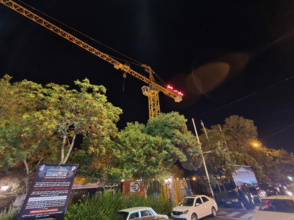 دوربین فوق عریض در شب با نایت مود