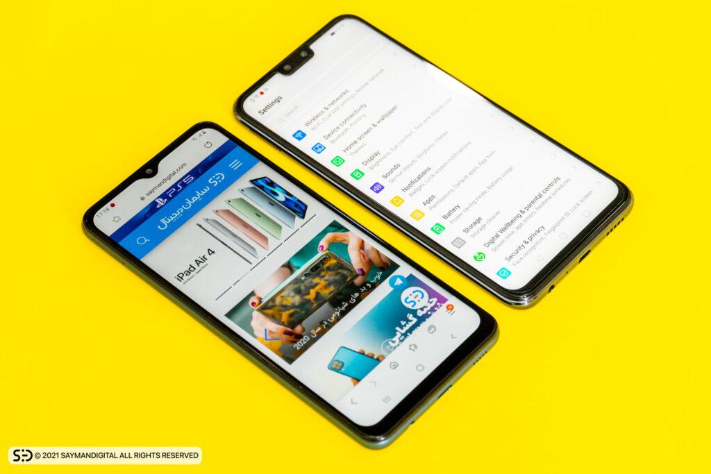 نمایشگر دو گوشی در مطلب Y8s بخریم یا A12