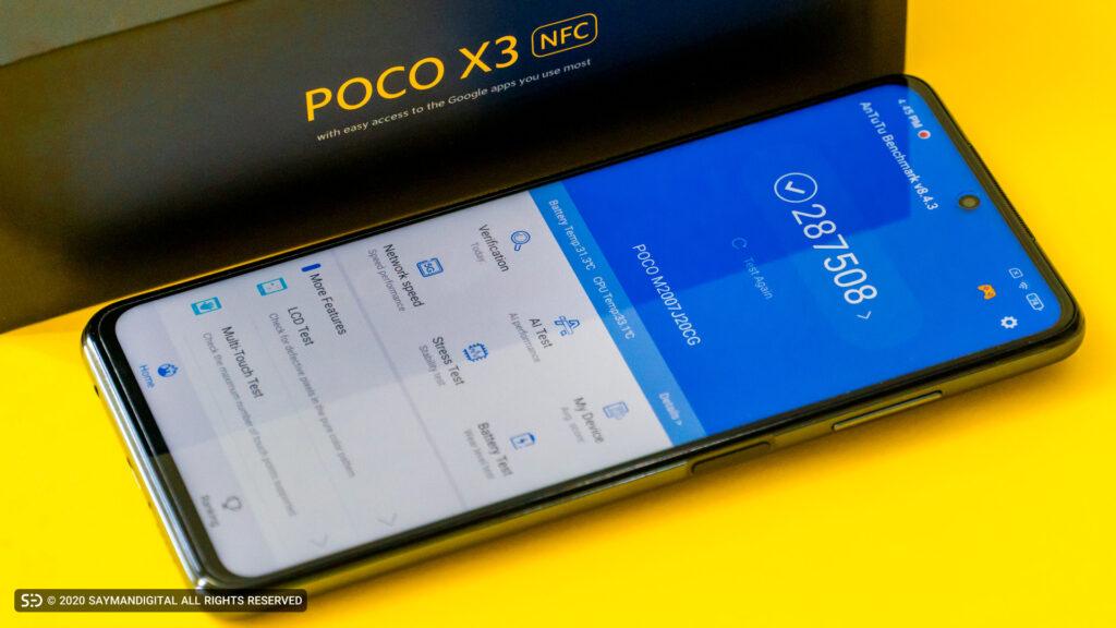 Poco X3 در مقایسه Poco X3 با Nova 7i و گلکسی A31