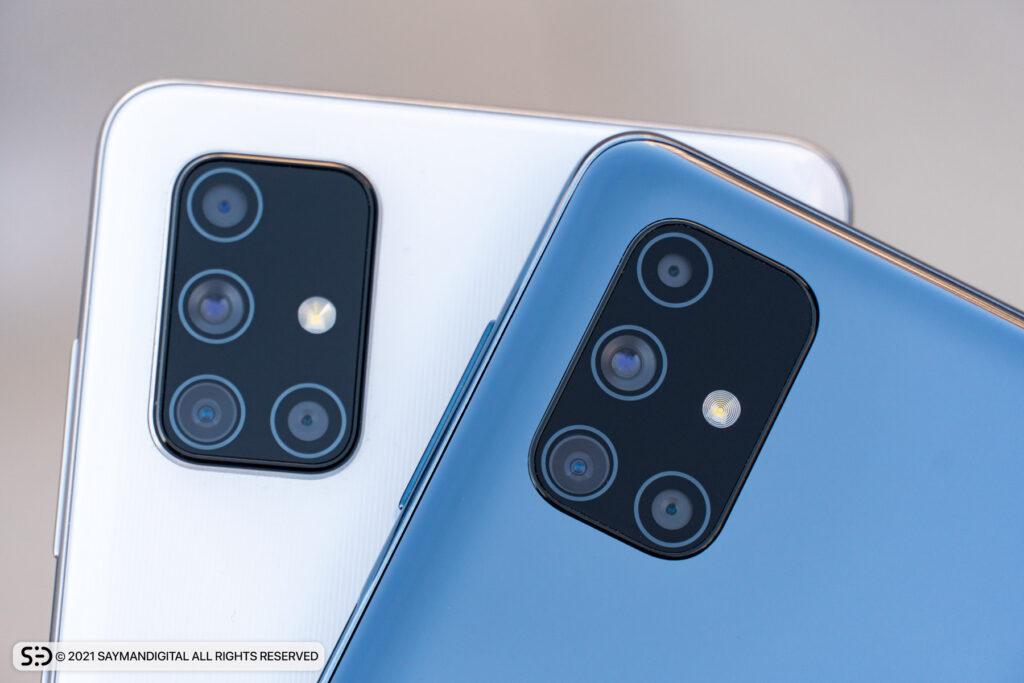چیدمان دوربینهای دو گوشی در مطلب گلکسی A71 بخریم یا M51