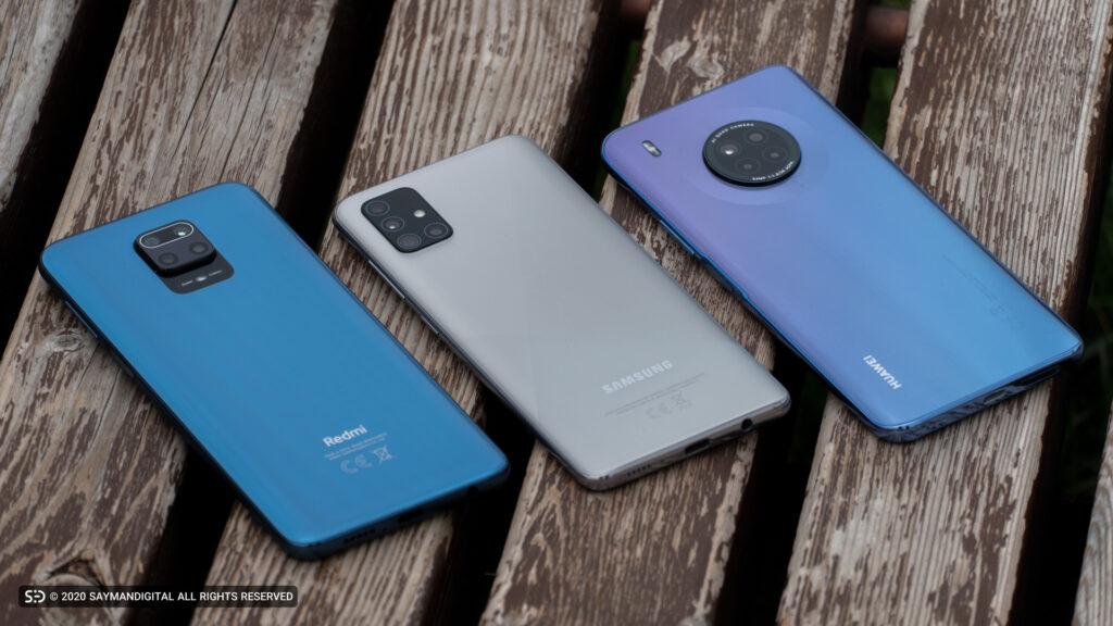 مقایسهی سه گوشی Y9a هواوی، A51 سامسونگ و نوت ۹ پرو شیائومی