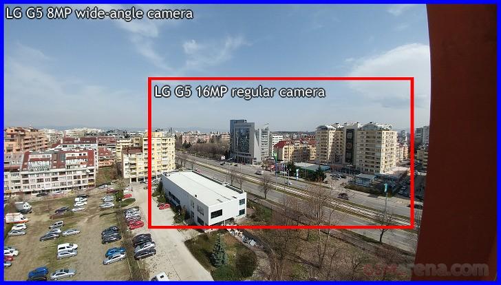 مقایسه تصویر دوربین اصلی و فوقعریض LG G5