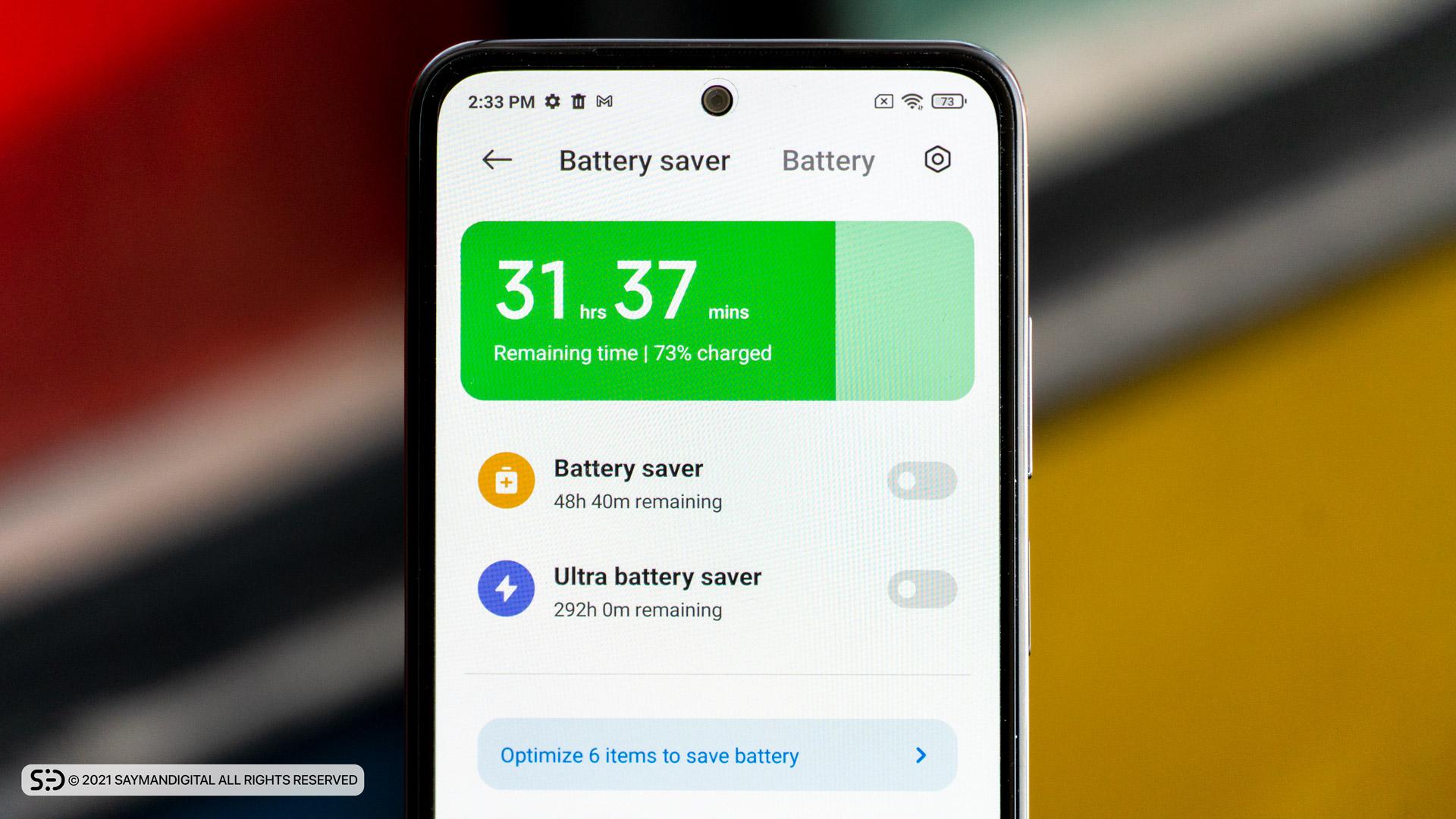 عملکرد باتری در مطلب بررسی Redmi Note 10