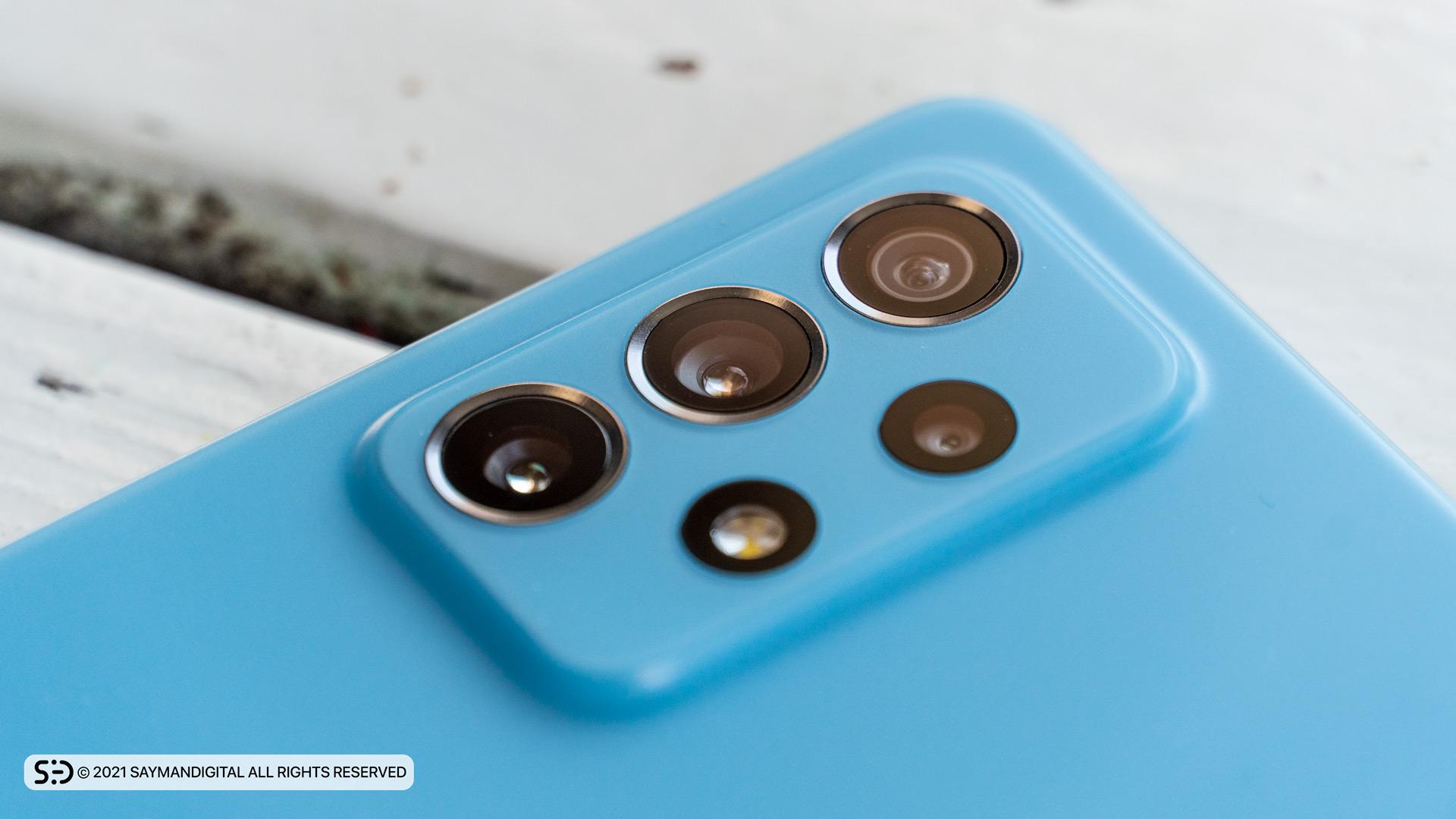 چیدمان لنز دوربینها در مطلب بررسی گلکسی A72