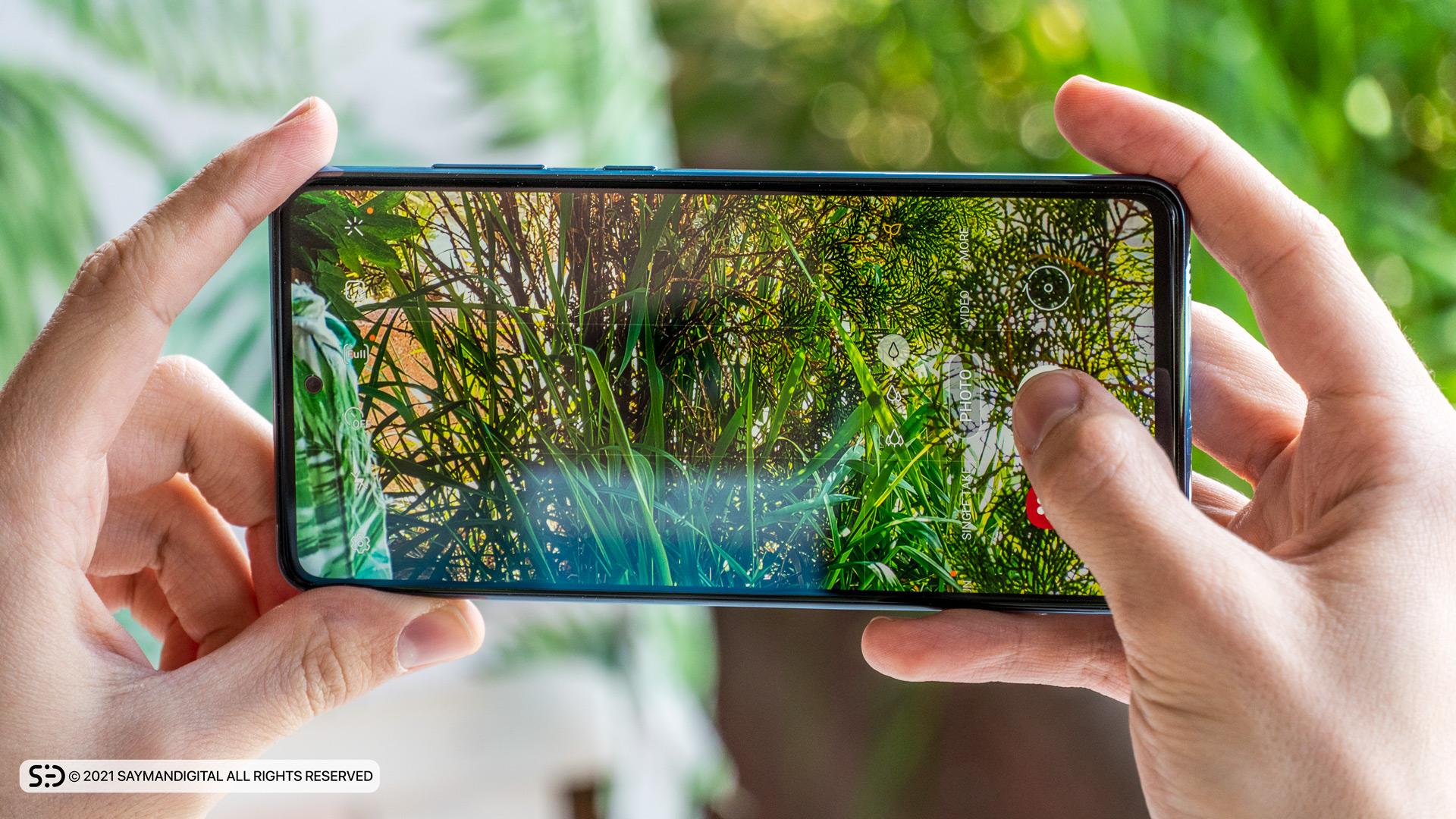 منوی دوربین در مطلب بررسی Galaxy A72