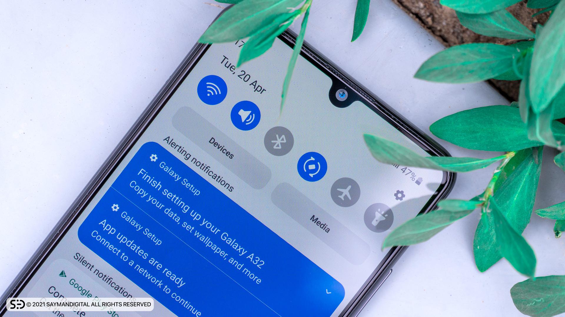 رابط کاربری در مطلب بررسی Galaxy A32