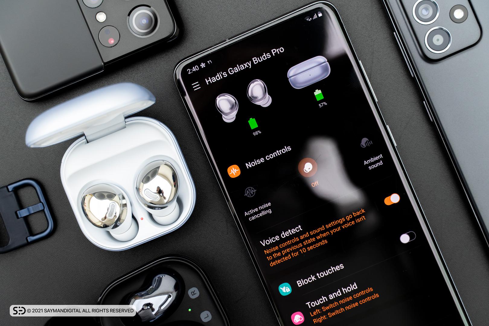 برنامه Samsung Wearable app در مطلب بررسی گلکسی بادز پرو سامسونگ