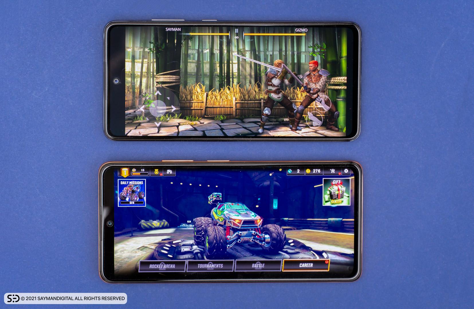 اجرای بازی به روی دو گوشی - redmi note 10 pro یا a52