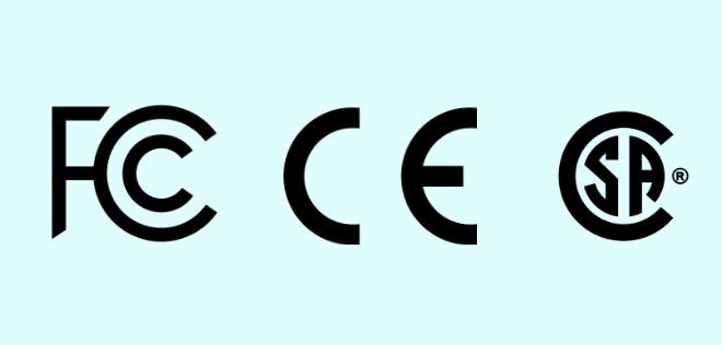 استانداردهای CE، FCC و CSA در آداپتورهای شارژ